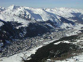 Scène de débâcle à Davos.